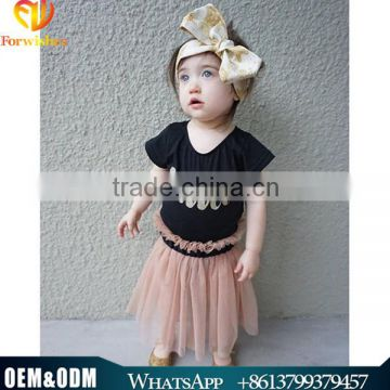 2016 Ins Hot Sale Baby Girl Summer Children Clothing Swan Tutu Dress Mesh Tulle Dress