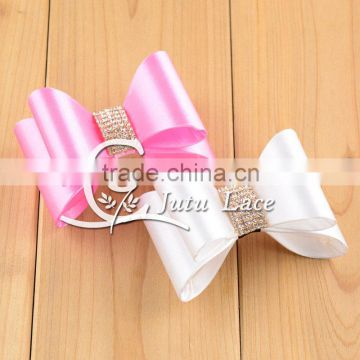 Wholesale Fashion Children diamond Ribbon Hair Bows For Baby, Rhinestone crystal bowknot, adult suit collar bow tie