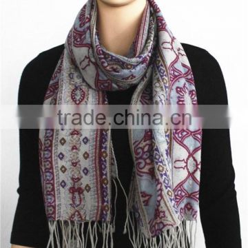 2015 Latest Classical Floral Print Wool Scarf