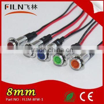 5 x Red LED 10mm Panel Indicator 220V