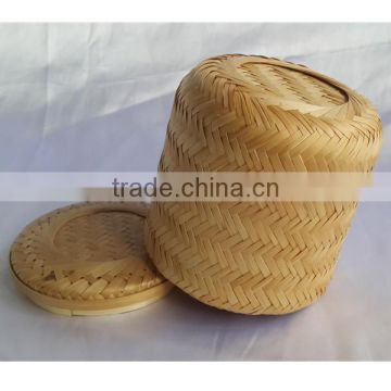 New style classical bamboo weaving rattan basket funeral casket