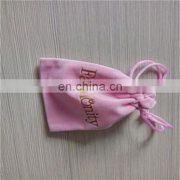 Pink velvet small wedding gift bag