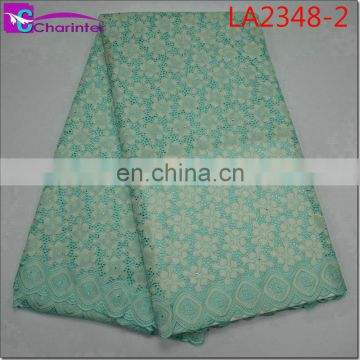 high quality sale well african swiss big voile lace fabircs LA2348