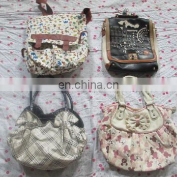 Used fashion lady purse used big school bags on sale second hand quality bags in China