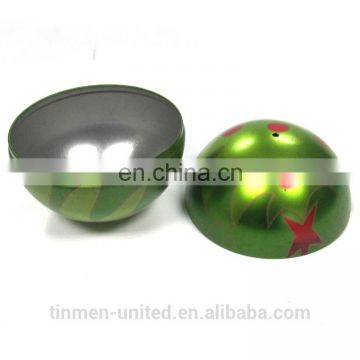 DIA12cm Ball shape Christmas tin box