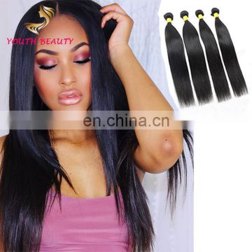China factory wholesale price Indian human virgin hair weaving in silky straight raw unprocessed hair
