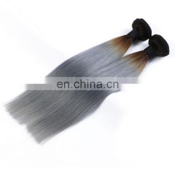 aliexpress Wholesale Virgin Remy Human hair Brazilian Cheap mixed gray hair weave extension