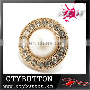 white compound jewel buttons for wedding