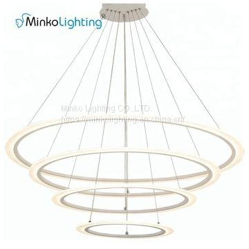 Luxury Decorative Iron Ring Led Pendant Light
