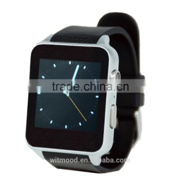2016 New Arrival Touch screen bluetooth smart watch, stainless steel camera watch, smart watch mobile phone with heart rate
