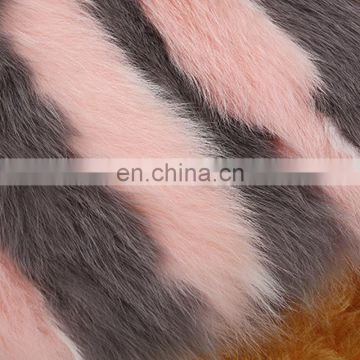 Colorful fox fur vest multi color fashion fox fur coat gilet factory price