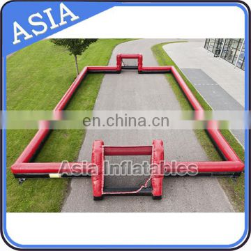 Outdoor Inflatable Soccer Field , Inflatable Soap Football Field For Rental