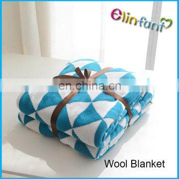 INS hot selling wool blanket 100% cotton kid blanket