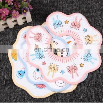 Cartoon latest fashion baby bandana drool bib cotton soft round baby bib