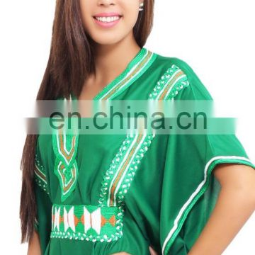 Gorgeous green Kaftan Dress Moroccan dress for women