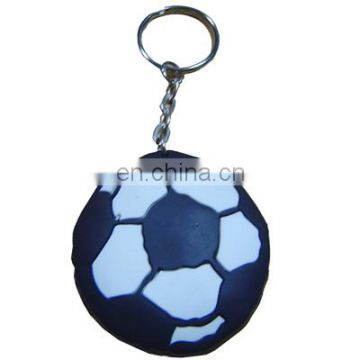 logo printed promotional custom silicone rubber keychains of
