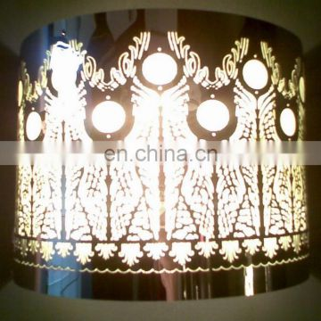 Etching stainless steel lampshade wire frame for wall lamp and chandelier