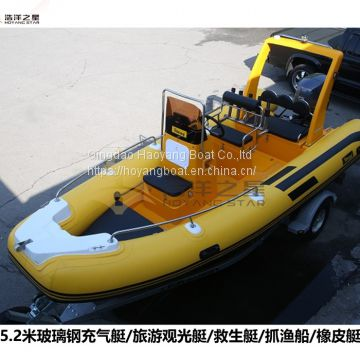 5.2 meter rib boat inflatable boat RIB520A for sale