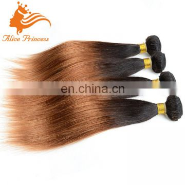 Ombre Human Hair Weave 7A Brazilian Virgin Hair Sliky Straight 3Pcs Ombre Hair Bundles