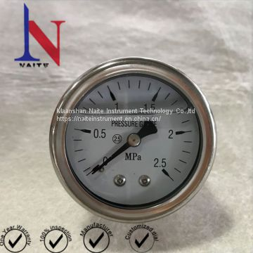 Back Thread Port Glycerin Pressure Gauge for Pump