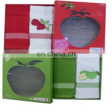 Gift box 100% embroidery cotton tea towel