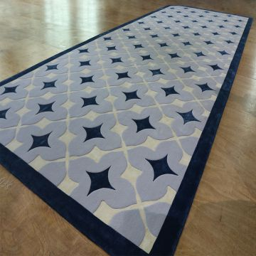 Geometric rug comfortable hand tufted carpet for bedroom carpet