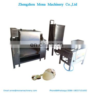 Quail egg boiling peeling shelling production line, automatic Bird  egg peeler machine