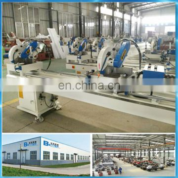 window processing machine.double-head miter saws for pvc profile