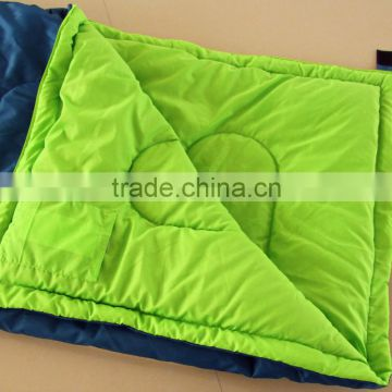 Good quality Orange and blue color envelope sleeping bags with cotton inner fabric-CP5218