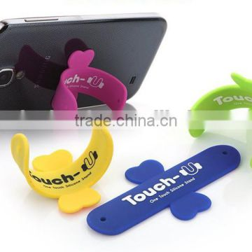 one Touch-U wing design silicon cell phone stand