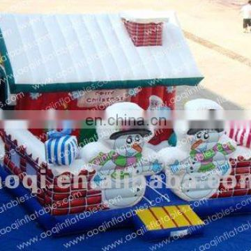 Merry Christmas commercial inflatable bouncer Santa Claus inflatable christmas decoration bouncer with factory lower price