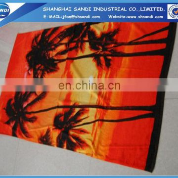 100% cotton microfiber pigment print beach towel wholesale