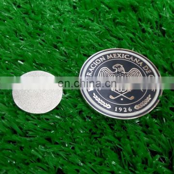 Wholesale golf metal magnetic chips with customized logo on both side