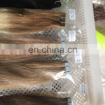 Factory price wholesale 100 human hair new arrival russian hair tape in hair extensions