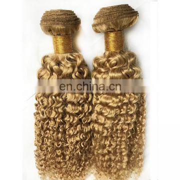 Best selling products tangle free blonde curly hair extension human hair weave