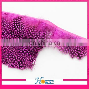 wholesale colorful dyed feather fringe chicken feather trim with satin ribbon
