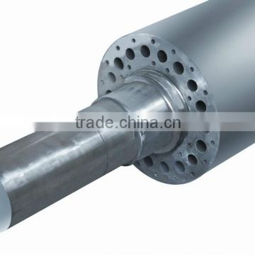 non woven fabric hot rollers with smooth roller and embossing roller
