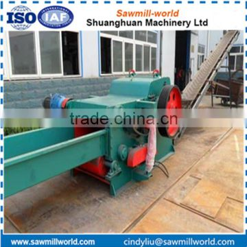 Industrial wood chipping machine drum type wood chipper