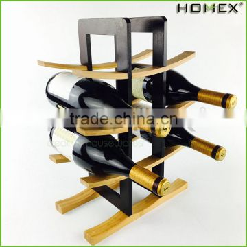 Bamboo tabletop lightweight wine rack holder Homex BSCI/Factory