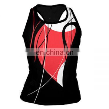 China OEM service unique sexy women running singlet
