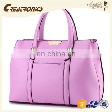 CR Over 11 years experience pu leather material large-capacity portable long handle dark-blue colors new stylish bags cosmetic