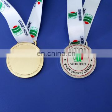 custom cricket sport medal for saudi cricket centre