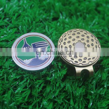 Golf hot sale magnetic brass hat clip cap clip green ball marker