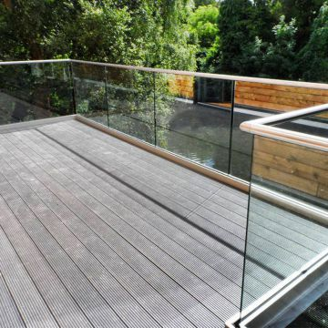 balcony aluminum profile glass railing