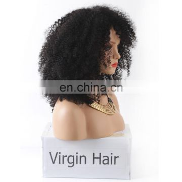 Top Selling 100% Virgin Unprocessed Brazilian Hair Natural Color short afro kinky lace human hair wigs