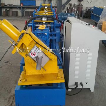 Automatic colored steel C purlin roll forming machine