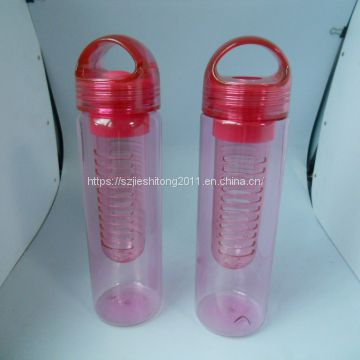 Hot sell tritan plastic fruit water bottle with fruit tube