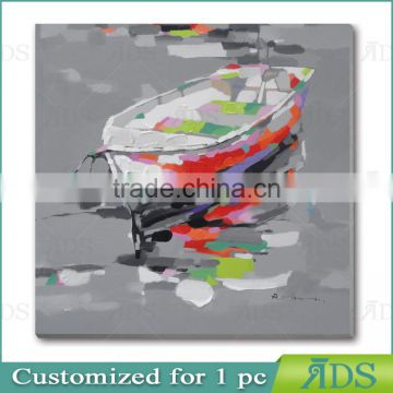 Abstract Boat Ship and Sea Oil Painting