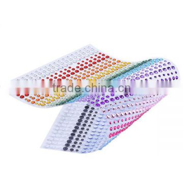 Self Adhesive 3mm Rhinestone Diamante Gem Sticker Strip Decoration