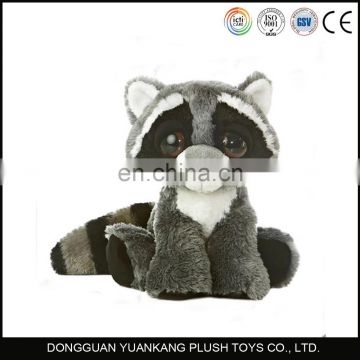 Stuffed raccoon bear plush animal toy
